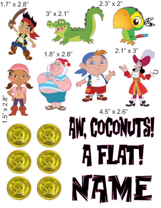 Jake And The Neverland Pirates Cranial Band Decoration From High Quality Vinyl For Baby Helmets