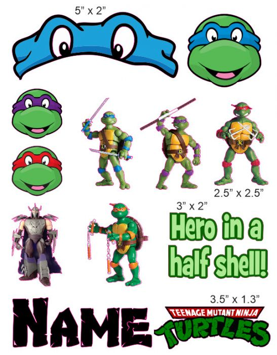 Teenage Mutant Ninja Turtles Cranial Band Decoration From High Quality Vinyl For Baby Helmets