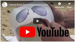 Our cranial band application guide is also on video!