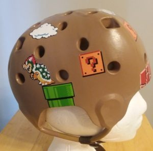 Decorating soft seizure foam helmets