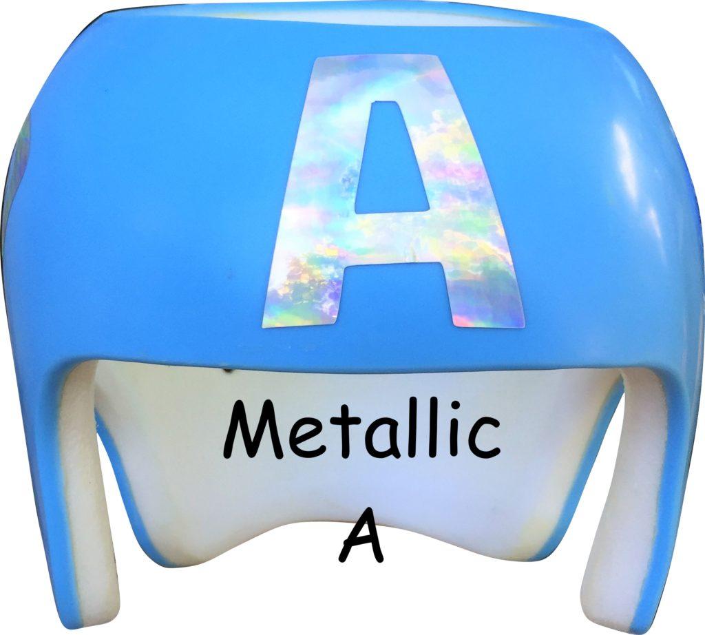 Captain America metallic A cranial band
