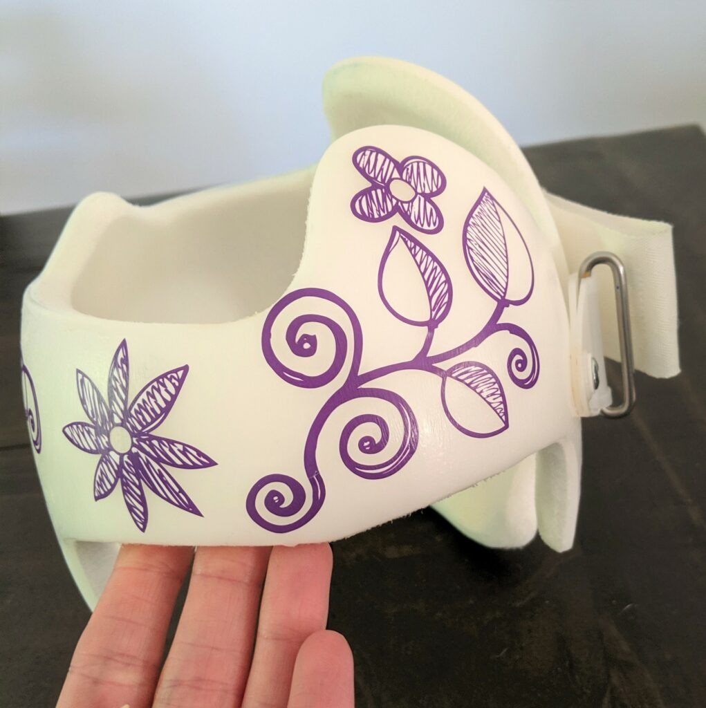 Flowers and vines cranial band