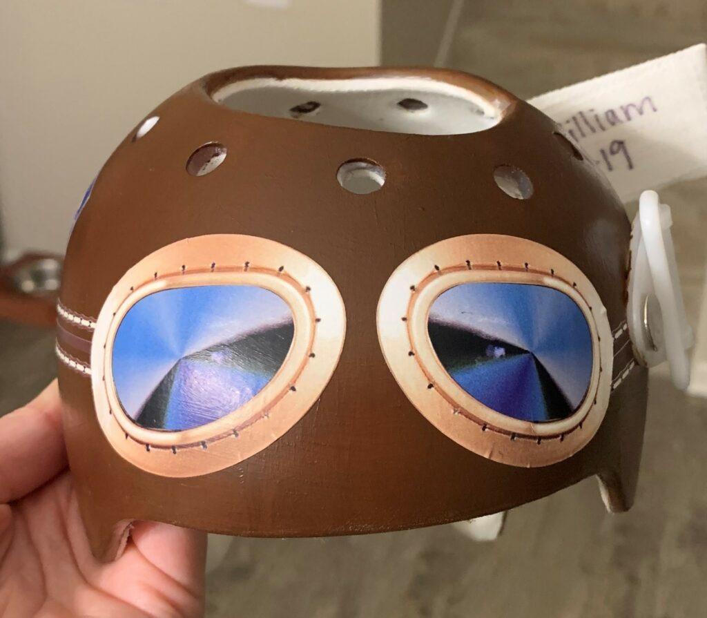 Aviator goggles cranial band