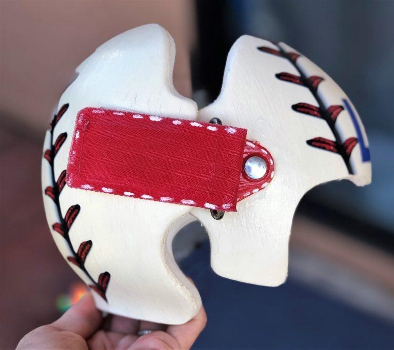 Baseball stitching 3d cranial band