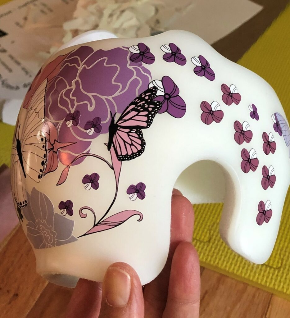 Butterflies and flowers cranial band