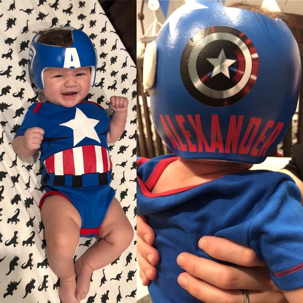 Captain America cranial band decoration