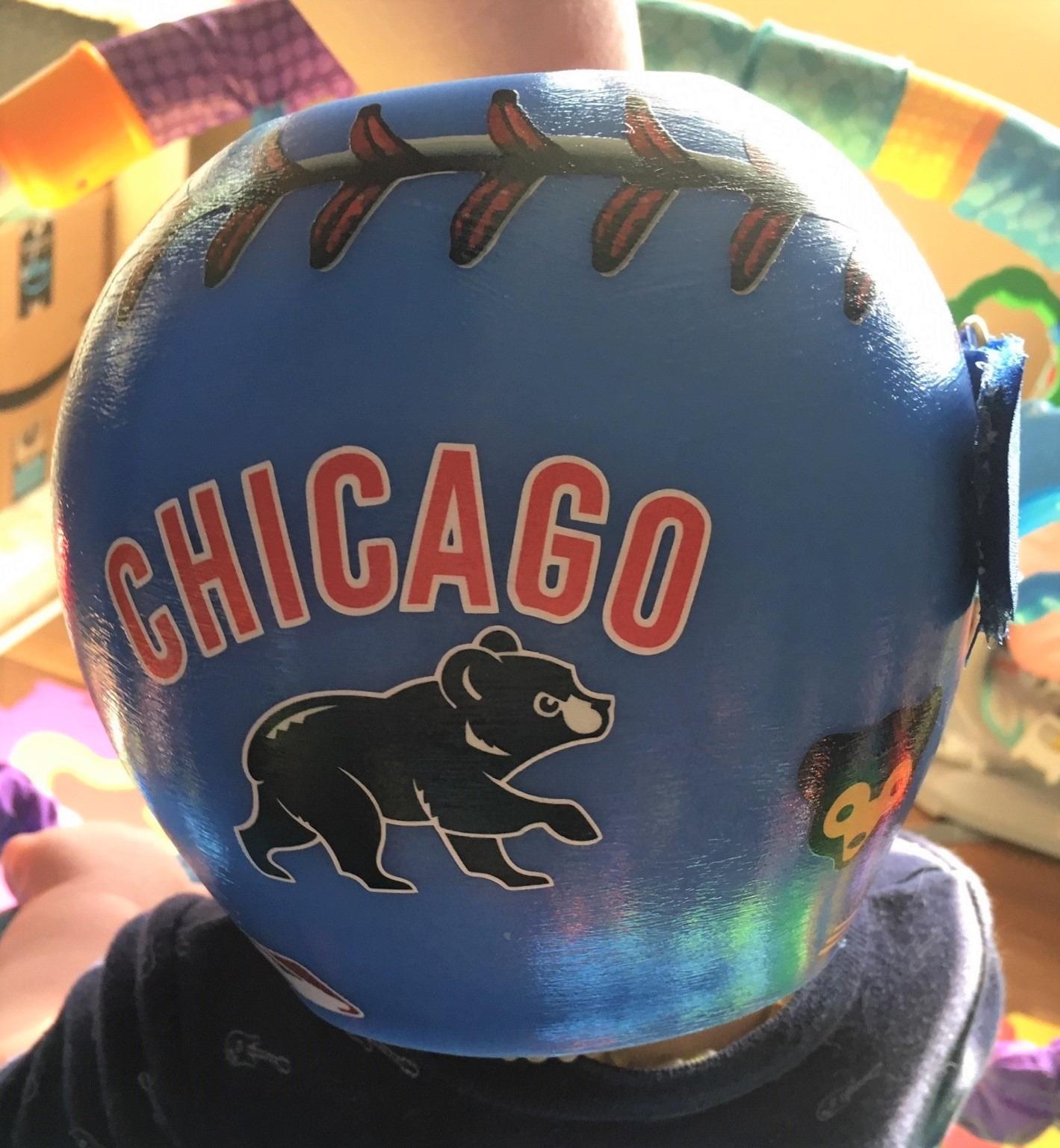 Chicago cubs baseball helmet