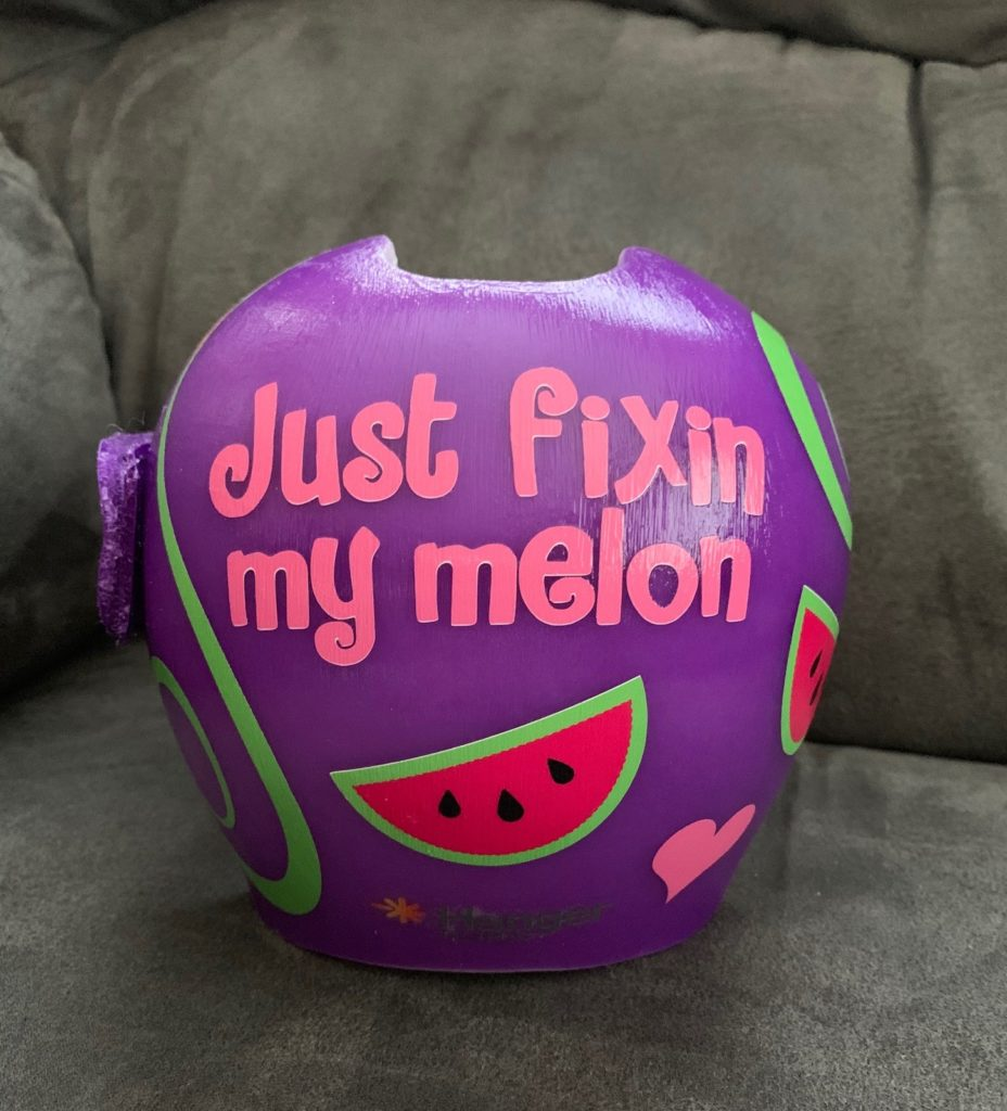 watermelon cranial band decoration