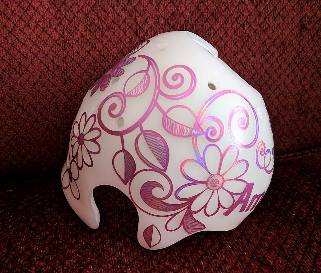 Flowers and vines metallic cranial band