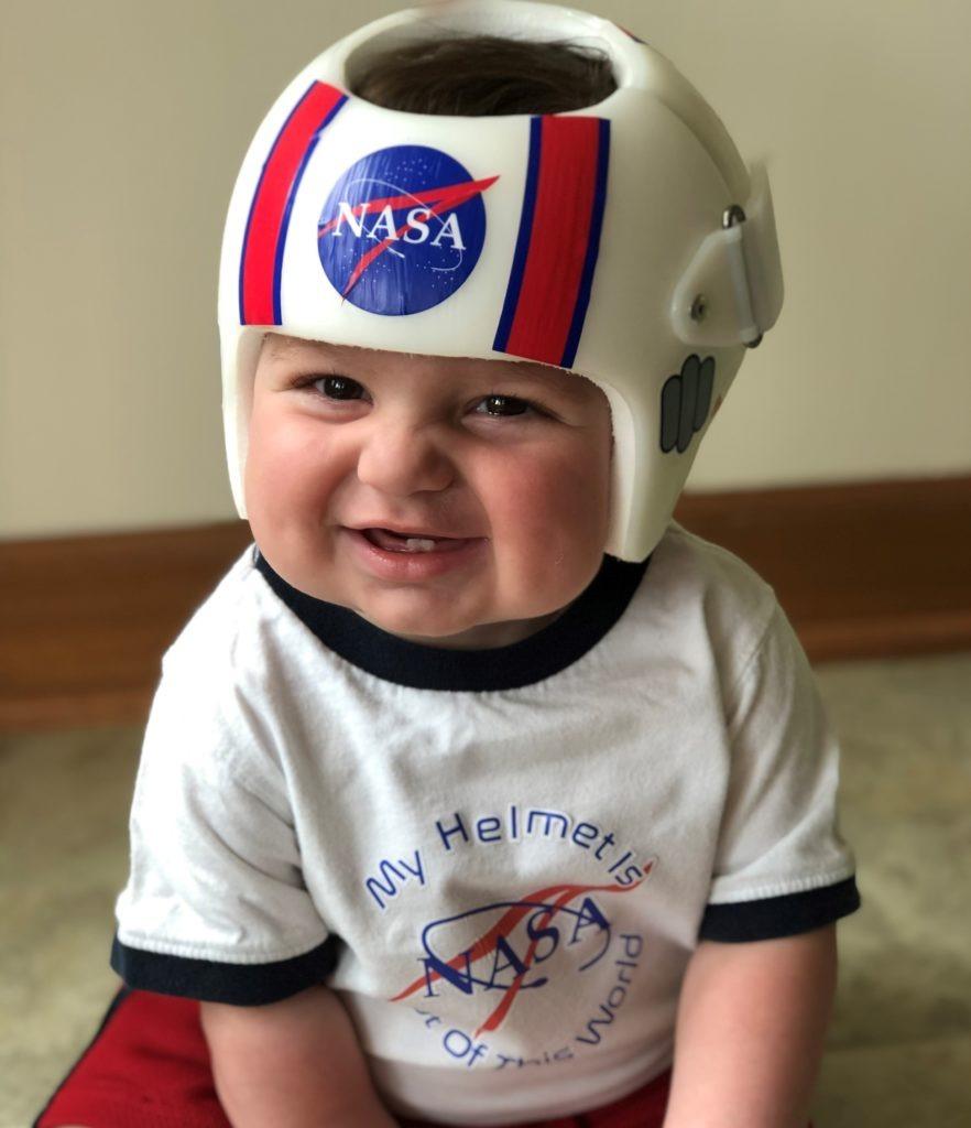 Nasa helmet and shirt