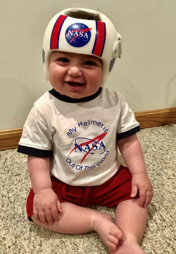 NASA helmet and shirt cranial band