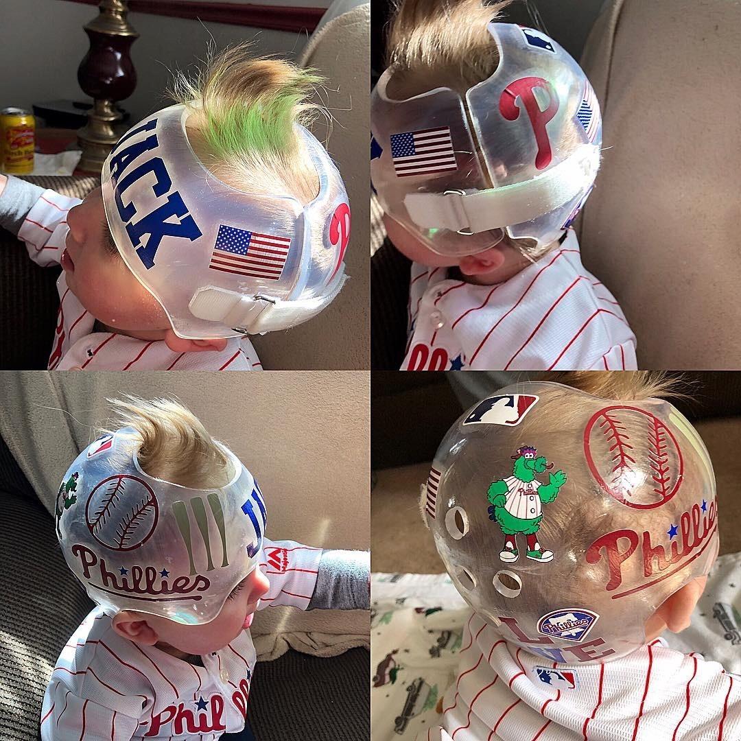 Philadelphia Phillies baseball clear cranial band