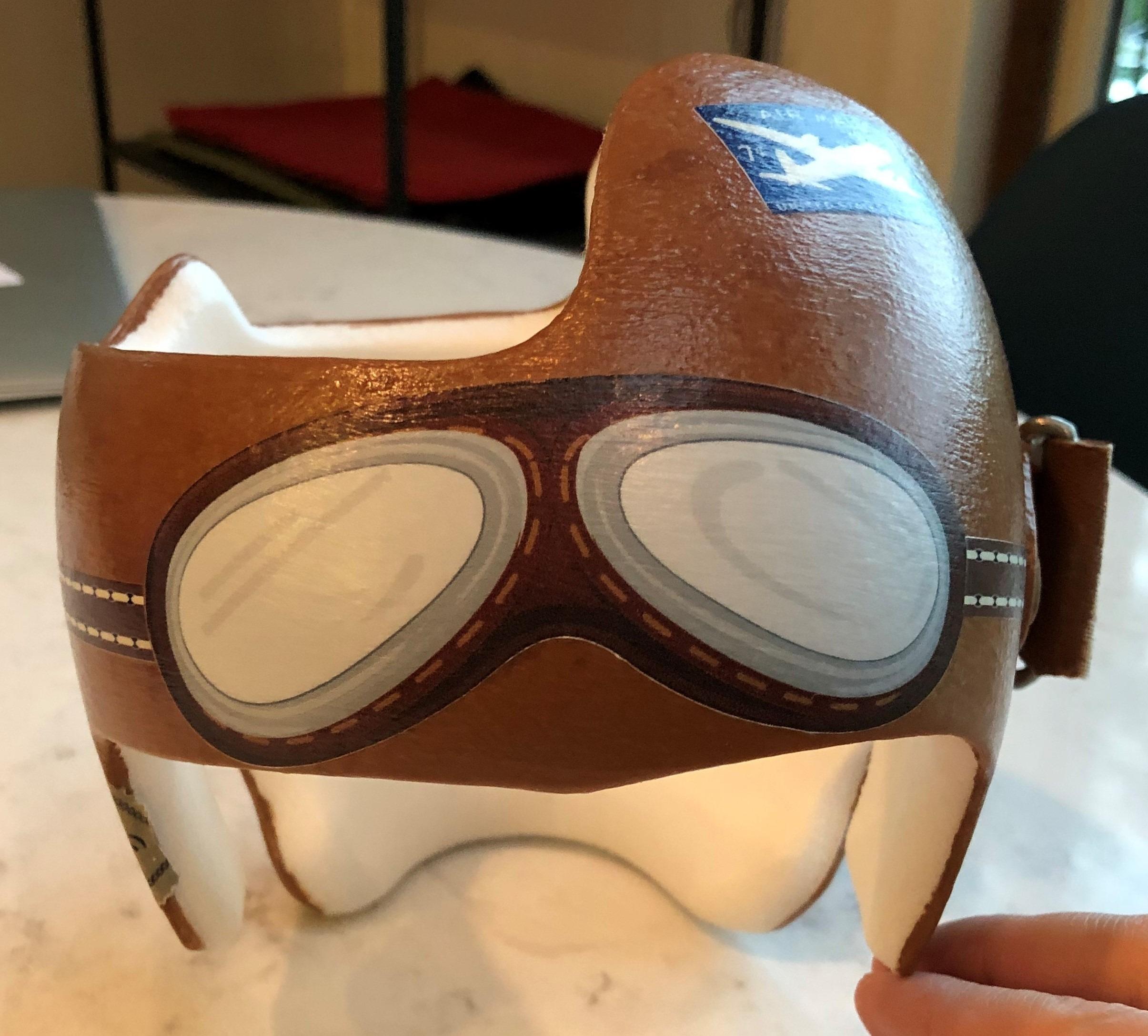 Vintage aviator helmet doc band