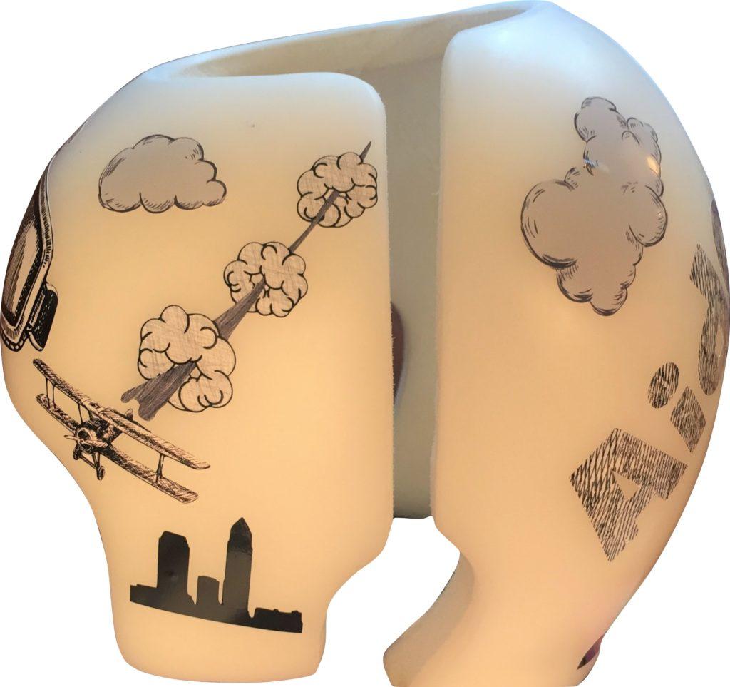 Sketch aviator cranial band