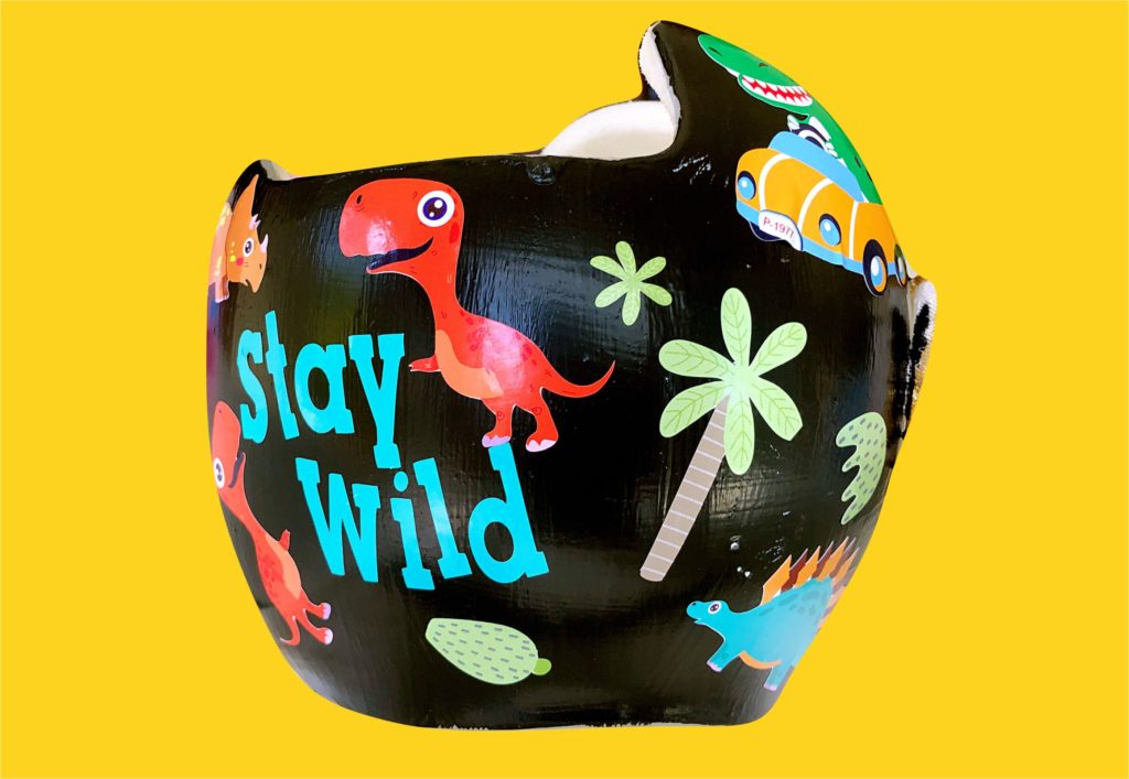 Stay wild cranial band