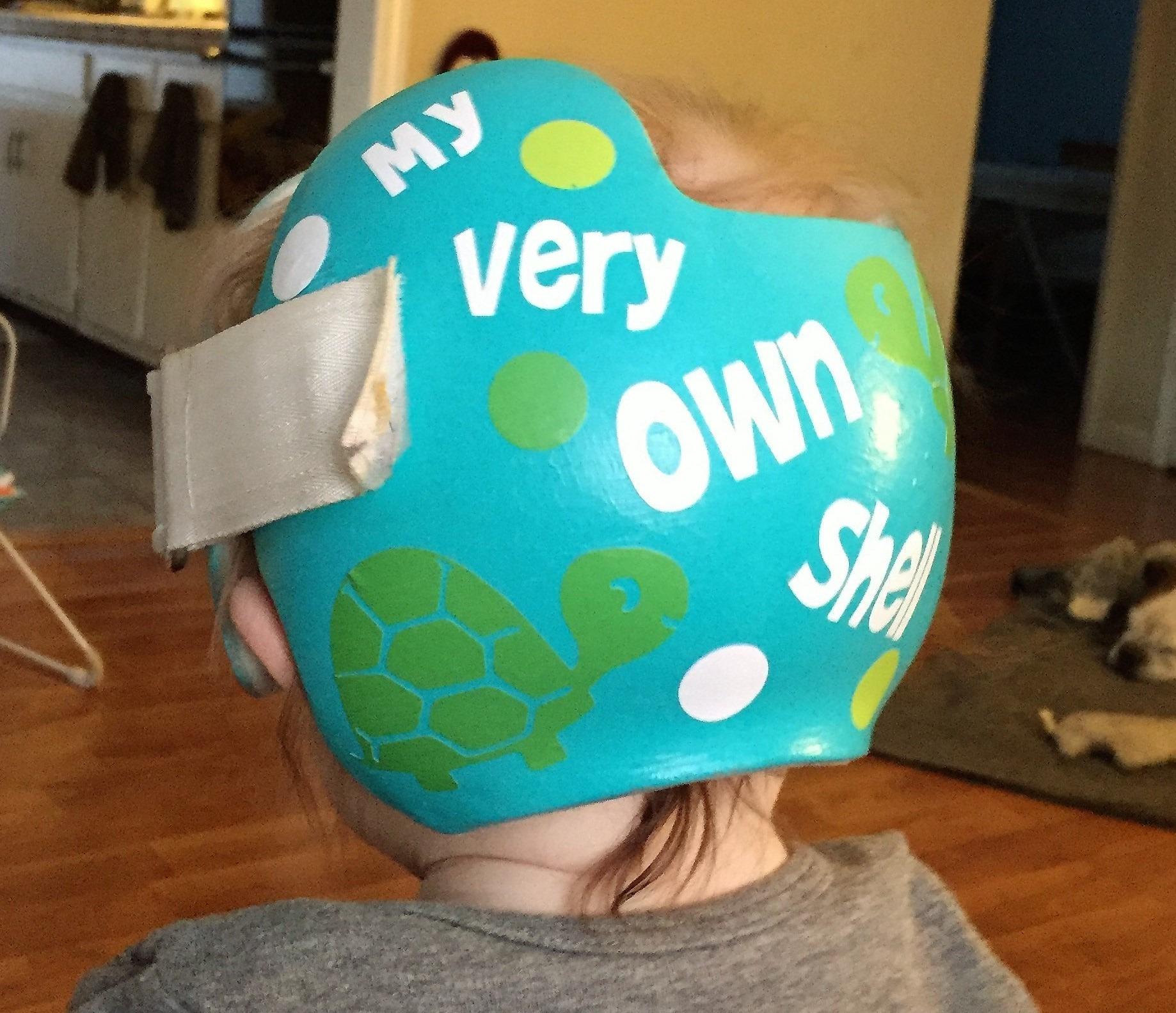 Turtle shell cranial band