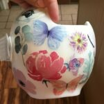 Watercolor flowers and butterflies cranial band