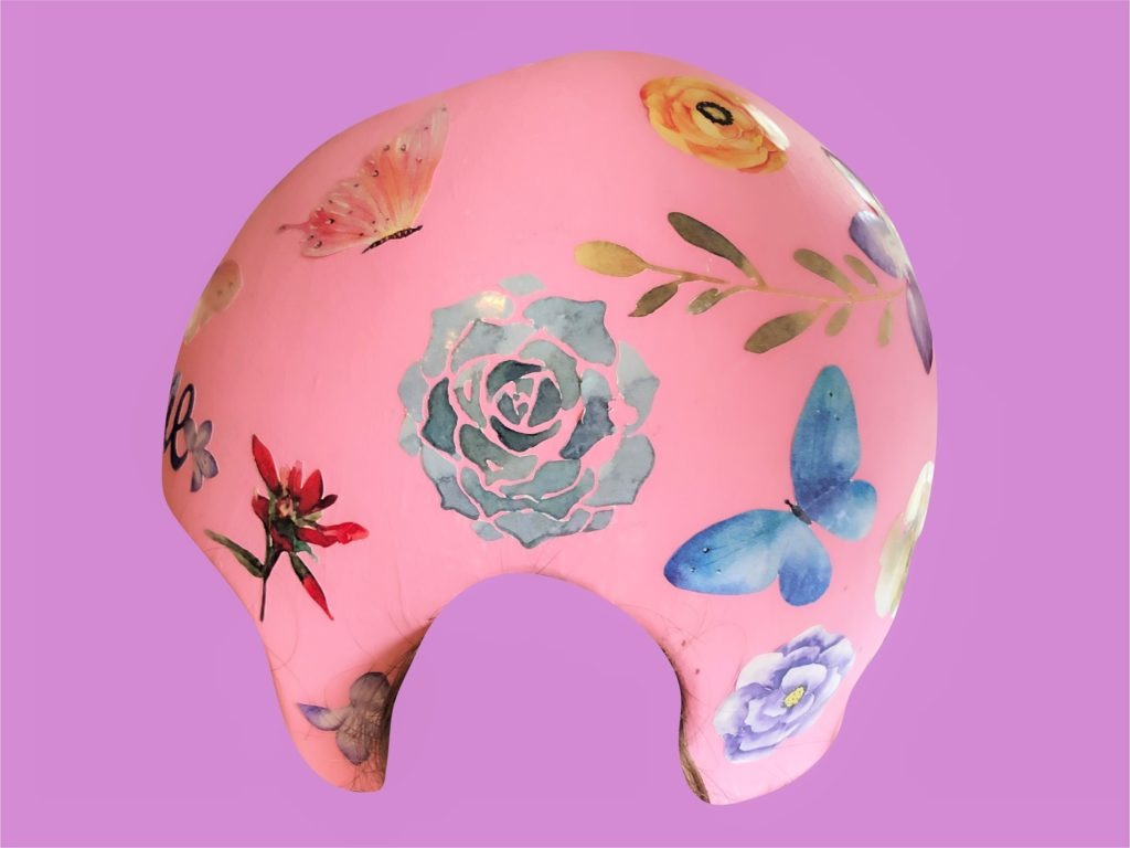 Watercolor flowers cranial band