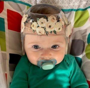 Flower bouquet cranial band