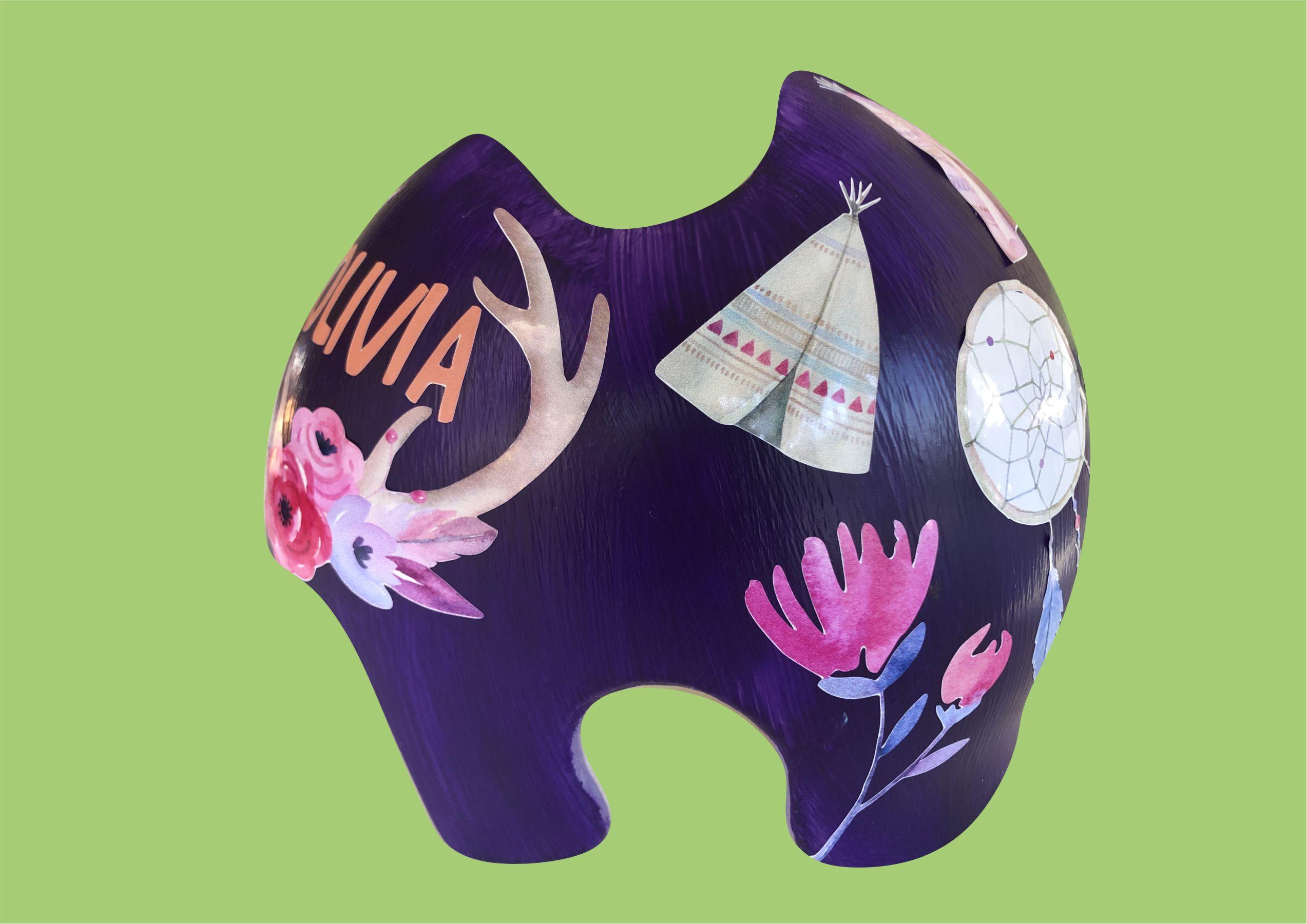 Watercolor tribal BoHo cranial band