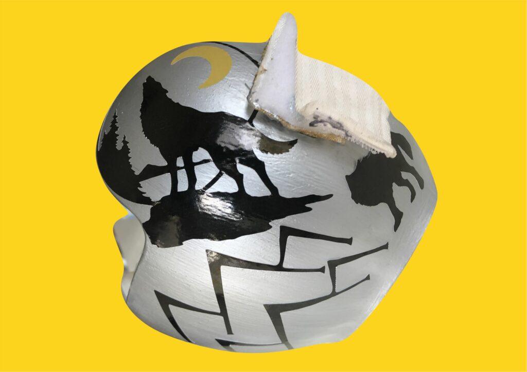 Wolf moon cranial band