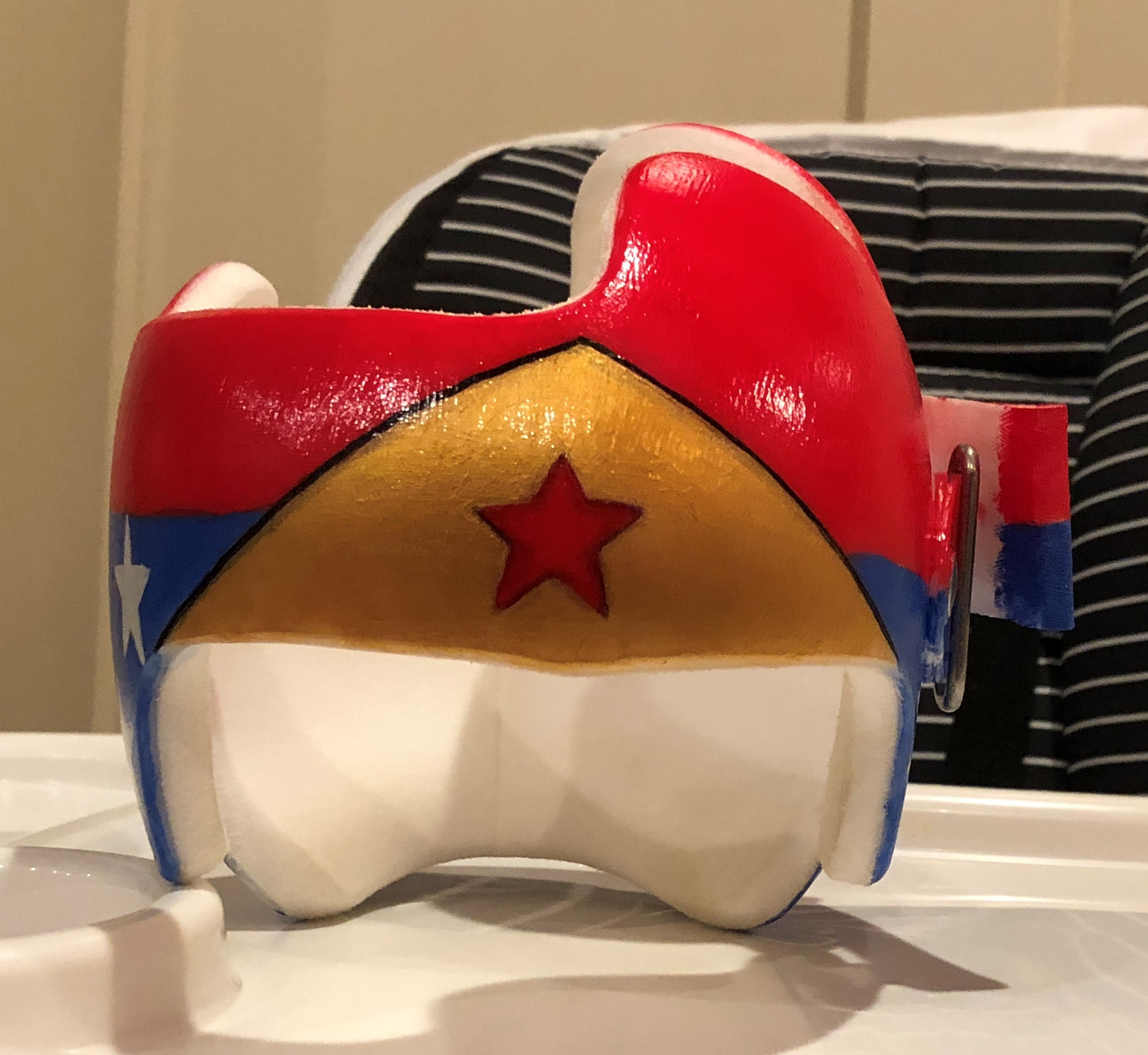 Wonder woman painted helmet