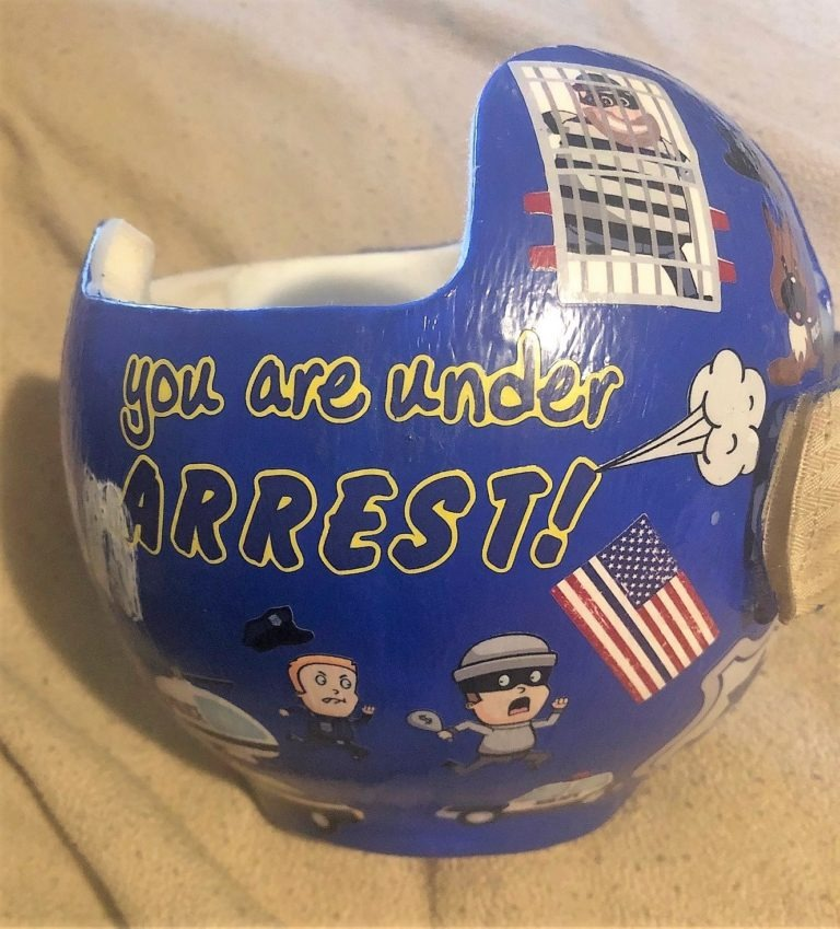 You are under arrest cranial band