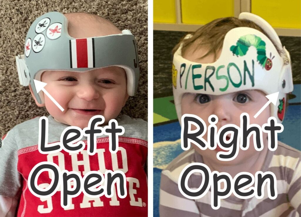 Left open versus right open helmets!